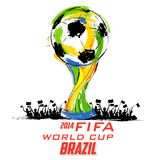 FIFA World Cup background. Illustration of soccer trophy in FIFA World Cup background Stock Image