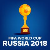 2018 FIFA World Cup Background Vector. Welcome To Russia. Championship Russia 2018. Tournament Design. Illustration. 2018 FIFA World Cup Background Vector Stock Photos