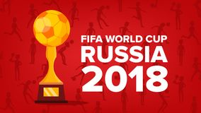 2018 FIFA World Cup Background Vector. Soccer Graphic. Russia Event. Welcome To Russia. Illustration. 2018 FIFA World Cup Background Vector. Welcome To Russia Royalty Free Stock Photos