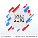 FIFA World Cup 2018 Banner Concept. Abstract composition with ad text. Editable vector background template Stock Photos