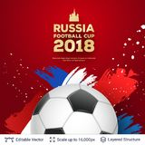 FIFA World Cup 2018 Banner Concept. Stock Photography