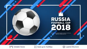 FIFA World Cup 2018 Banner Concept. Royalty Free Stock Photography