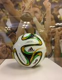 FIFA World Cup Brazil 2014 Brazuca soccer ball by Adidas. Soccer ball used in the FIFA World Cup Brazil 2014. Called `Brazuca` with white, yellow, green and stock photos