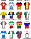 2014 Fifa World Cup Brazil Groups Royalty Free Stock Photography