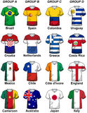 2014 Fifa World Cup Brazil Groups. Illustration featuring participants in the 2014 Fifa World Cup Brazil groups from A to D. Groups from E to H are here 35923737 Stock Photography