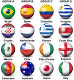 2014 Fifa World Cup Brazil Groups. Illustration featuring participants in the 2014 Fifa World Cup Brazil groups from A to D. Groups from E to H are here 35981200 Royalty Free Stock Photos