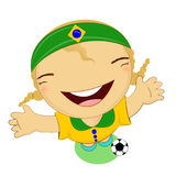 Fifa world cup 2014 brazil national football team, businessgirl h Royalty Free Stock Images