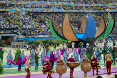 FIFA WORLD CUP BRAZIL 2014. Opening ceremony of the 2014 soccer World Cup royalty free stock photography