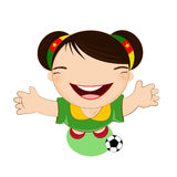 Fifa world cup 2014 cameroon national football team, businessgirl Stock Image