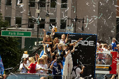 FIFA World Cup Champions US Women National Soccer Team ticker-tape parade Stock Image