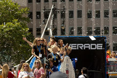 FIFA World Cup Champions US Women National Soccer Team ticker-tape parade Royalty Free Stock Images