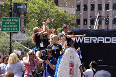 FIFA World Cup Champions US Women National Soccer Team ticker-tape parade Royalty Free Stock Photography