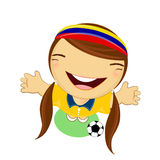 Fifa world cup 2014 colombia national football team, businessgirl Stock Photography