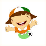 Fifa world cup 2014 cote d�ivoire national football team, businessgirl Royalty Free Stock Image