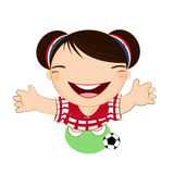 Fifa world cup 2014 croatia national football team, businessgirl Royalty Free Stock Photography