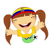 Fifa world cup 2014 ecuador national football team, businessgirl Stock Photography