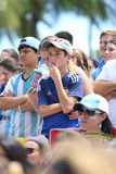 FIFA World Cup Fans on Miami Beach Stock Photos