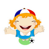 Fifa world cup 2014 france republic national football team, businessgirl Royalty Free Stock Photo