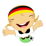 Fifa world cup 2014 germany national football team, businessgirl Royalty Free Stock Photo