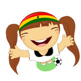 Fifa world cup 2014 ghana national football team, businessgirl ha Stock Photos