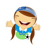 Fifa world cup 2014 greece national football team, businessgirl h Stock Photography