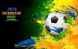 FIFA World Cup. Illustration of soccer ball in FIFA World Cup background Royalty Free Stock Photography