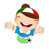 Fifa world cup 2014 italy national football team, businessgirl ha Stock Photography