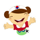 Fifa world cup 2014 korea republic national football team, businessgirl Royalty Free Stock Images