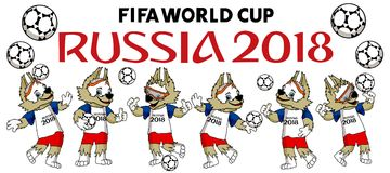 Fifa World cup 2018 mascot. Zabivaka is the mascot of Fifa world cup 2018 which now held in Russia isolated illustration Royalty Free Stock Photos