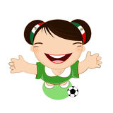 Fifa world cup 2014 mexico national football team, businessgirl Stock Images