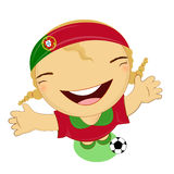 Fifa world cup 2014 portugal national football team, businessgirl Stock Image