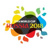 FIFA world cup 2018 poster. Colorful FIFA world cup 2018 greeting or poster design Royalty Free Stock Photos