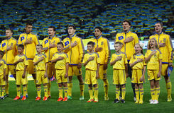 FIFA World Cup 2014 qualifier game Ukraine v England Stock Images