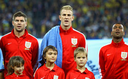 FIFA World Cup 2014 qualifier game Ukraine v England Royalty Free Stock Photos