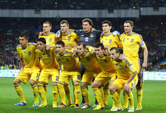 FIFA World Cup 2014 qualifier game Ukraine v England Stock Image