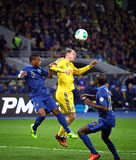 FIFA World Cup 2014 qualifier game Ukraine vs France Royalty Free Stock Images