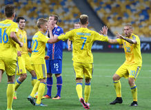 FIFA World Cup 2018 qualifying game Ukraine v Iceland Royalty Free Stock Image