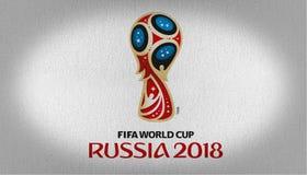 Russia 2018 logo flag stock image