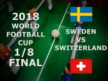 Fifa World Cup Russia 2018, football match. Championship. Final. One Eighth Of Cup. Match Sweden VS Switzerland.  stock image