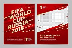 Russia 2018 Cup. Template. FIFA World Cup Russia 2018. Layout template design Royalty Free Stock Photography