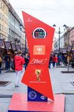 2018 fifa world Cup Russia in St. Petersburg stock photography