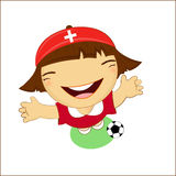 Fifa world cup 2014 switzerland national football team, businessgirl Royalty Free Stock Photo