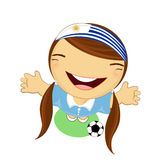 Fifa world cup 2014 uruguay national football team, businessgirl Royalty Free Stock Photos