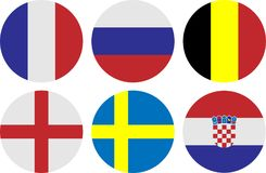 Fifa Worldcup country flag. Country flag in rounded shape that make it possible to put in various place Stock Image