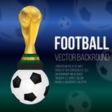 FIFA Worldcup Fotboll fotbollsportdesign Vektorillustration, EPS10 royaltyfri illustrationer