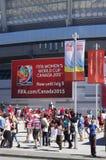 FIFA WWC Canada 2015 bij BC Place Stadium in Vancouver Stock Fotografie