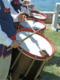 Fife and drum corps. Drums in a fife and drum corps band Royalty Free Stock Photography