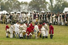 A fife and drum group of musicians Royalty Free Stock Image