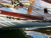 Fife yacht detail. Royalty Free Stock Photo