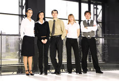 Fife Young Business Persons Are Standing As A Team Royalty Free Stock Photography